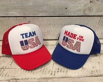 Youth 4th of July Trucker Hat, Youth Trucker Hat, Youth 4th of July Hat, Kids 4th of July Hat, 4th of July Hat, Kids Trucker Hat, usa hat