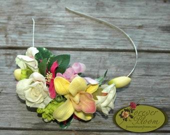 Real Touch Flower Hairband / Silk Flower Hairband / Artificial Flower Hairband / Floral Hairband / Real Touch Flower Headband / Silk Comb