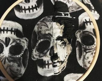 Charlie Chaplin  Half-Skull Embroidery