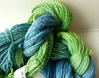 Sale River Run Handpainted American Wool & Silk Worsted Yarn by DBNY