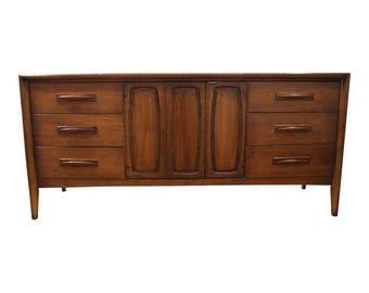 Mid-Century Danish Modern Broyhill Emphasis Walnut Dresser/Credenza #144
