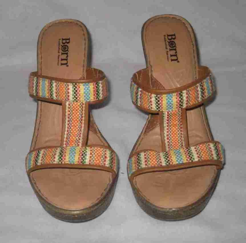 Size Shoes Aztec Sandals 7 Womens Born Wedge j5LqcARS34