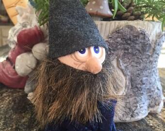 Gray Gnome Knee Hugger Doll