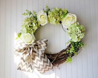 SUMMER WREATH, hydrangea wreaths, spring door wreaths, WREATH, Spring Wreath, Spring Decor, Modern Decor, Door Wreath, Wreath for Door