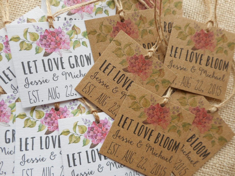 Wedding Favour Gift Tags: Custom Favor Tags Printable Wedding Favor Tags Let Love Grow