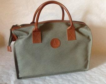 Avon Bag, Avon Case, Collectible Avon, Vintage Avon, Weekender Bag, Monogram Bag, Makeup Bag