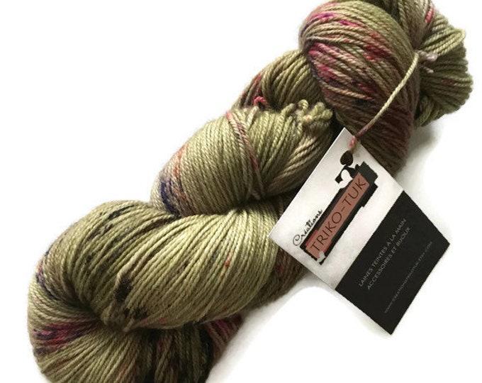 Hand dyed Nylon cashmere Fingering Merino Superwash extra fine wool