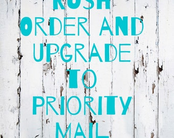 Rush Order and/or Upgrade to Priority Mail - Purchase Insurance