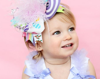 boutique EASTER BASKET over the top hair bow on a headband