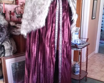 Medieval, Rennaisance, viking, Game of Thrones, SCA, LARP, winter cloak