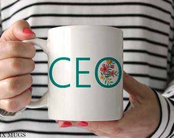 CEO Mug, Boss Lady Mug, Boss Mug, Mugs for Boss, Lady Boss Mug, Gift for Boss, Office Mug, Gift for CEO, Mugs for Her, Ceramic Mugs (Q4811)
