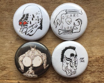 1 inch button four pack