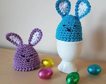 Bunny Egg Cozy, Crochet Egg Cosy, Egg Warmer, Crochet Rabbit, Kitchen Decor, Cotton Cosie, Easter Bunny, Easter Gift,