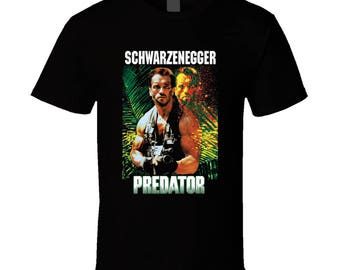 Predator Schwarzenegger Action Movie T Shirt
