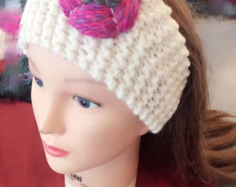 EXCLUSIVE VARIETY! -Hand-Knitted Headband ear warmer/muff hair accessory and great gift for winter