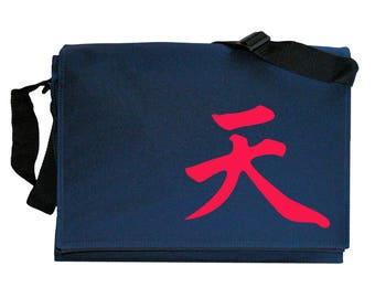 Akuma Gouki Infinity Immortal Symbol Navy Blue Messenger Shoulder Bag