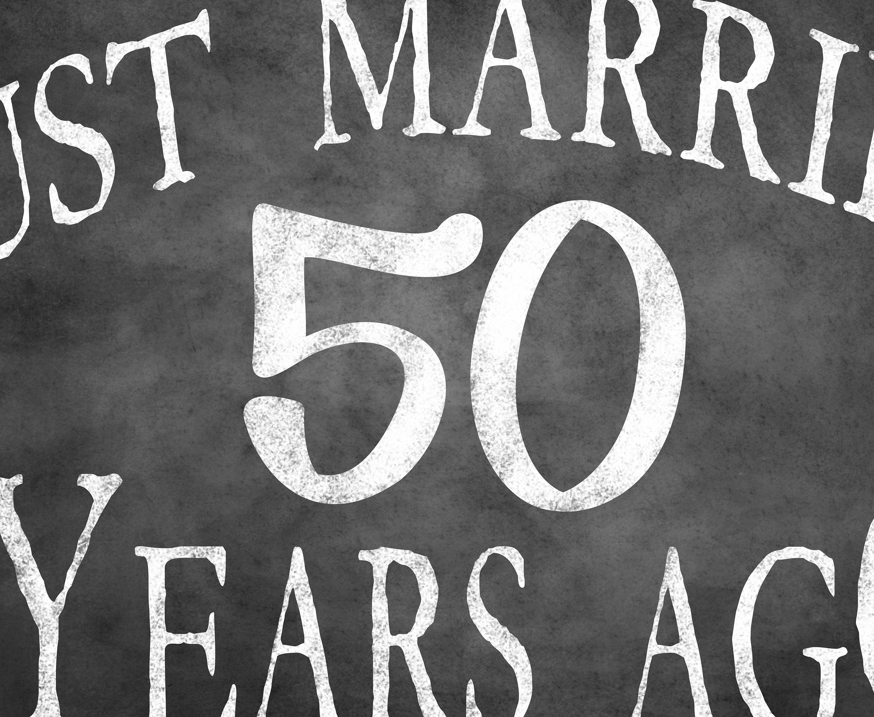 Very 50th anniversary sign, printable party sign, just married sign, 50  GX71