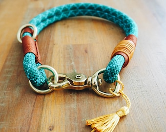Dog collar made of climbing rope, handmade