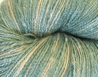 "Organic bamboo yarn ""Grey 2"", crochet thread, vegan, lace weight, hand dyed yarn, hand painted yarn, knitting, weaving, Christmas, 7.1 oz"