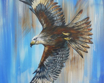 Red Kite In Flight Limited Edition Fine Art Giclee Print & Complimentary Greeting Card