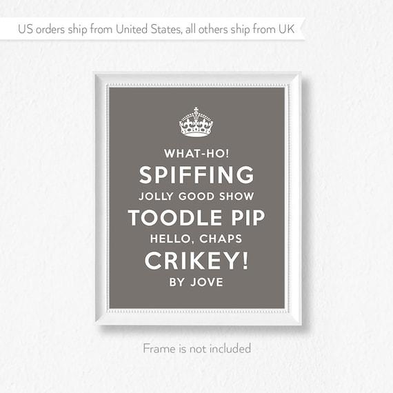 British theme print / Anglophile / Tea party ideas / UK seller