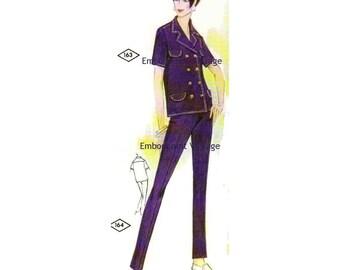Plus Size (or any size) Vintage 1969 Pants Pattern - PDF - Pattern No 164 Ladonna Pants