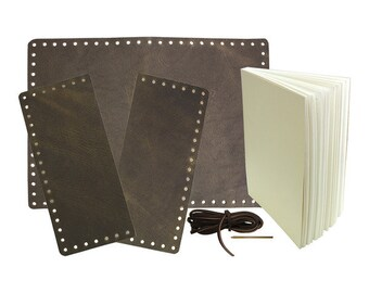 Oil Tan Leather Journal Kit - 160 Pages