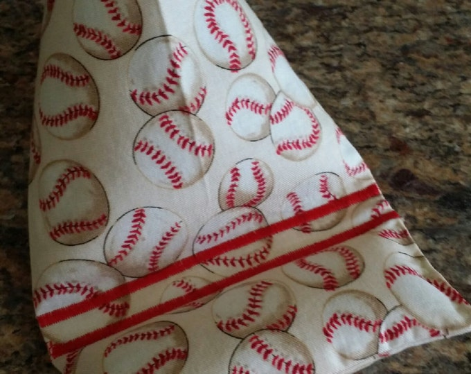 Gadget Bags-Cell Phone Stand-Cell Phone Pillows-Sports Collection (Red n' White Baseball)
