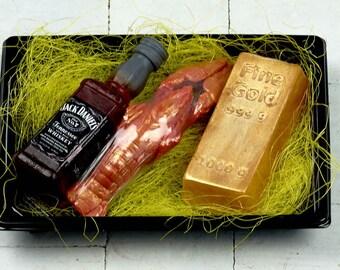 set of handmade soaps, a gift for men