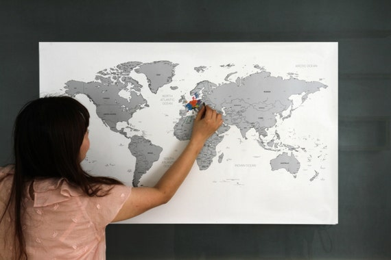 Scratch off world map poster silver gold from glassnam on etsy studio gumiabroncs Images