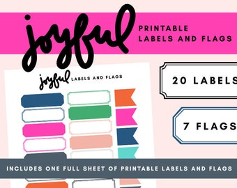 Joyful Printable Labels & Flags