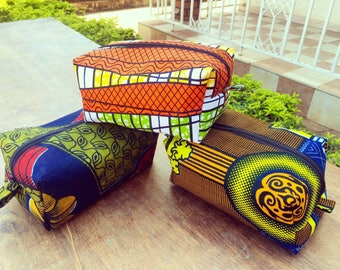 African Fabric Cosmetic Bag