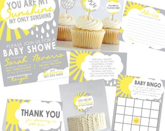 You Are My Sunshine Baby Shower | Etsy