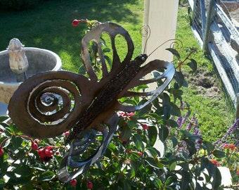 Metal sculpture butterflies
