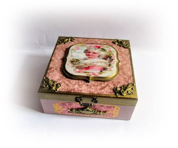 Jewelry Box Marie Antoinette Box Makeup Storage Gift For Her