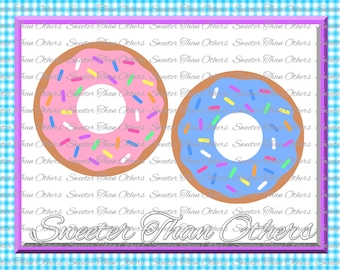Sprinkle Donut Doughnut SVG, Donut Cut file Donut cutting file, Donut, Dxf Silhouette Cricut INSTANT DOWNLOAD, Vinyl Design, Htv, Scal, Mtc