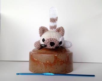 Pretty little kitten, made in crochet amigurumi plush