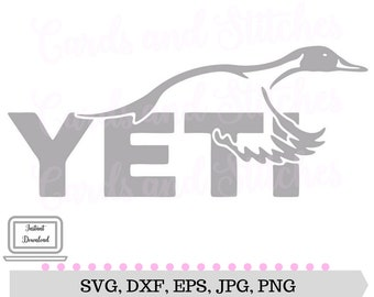 Yeti Duck SVG - Yeti SVG - Yeti Cup SVG - Cricut Cut - Digital Cutting File - Graphic Design - Instant Download - Svg, Dxf, Jpg, Eps, Png