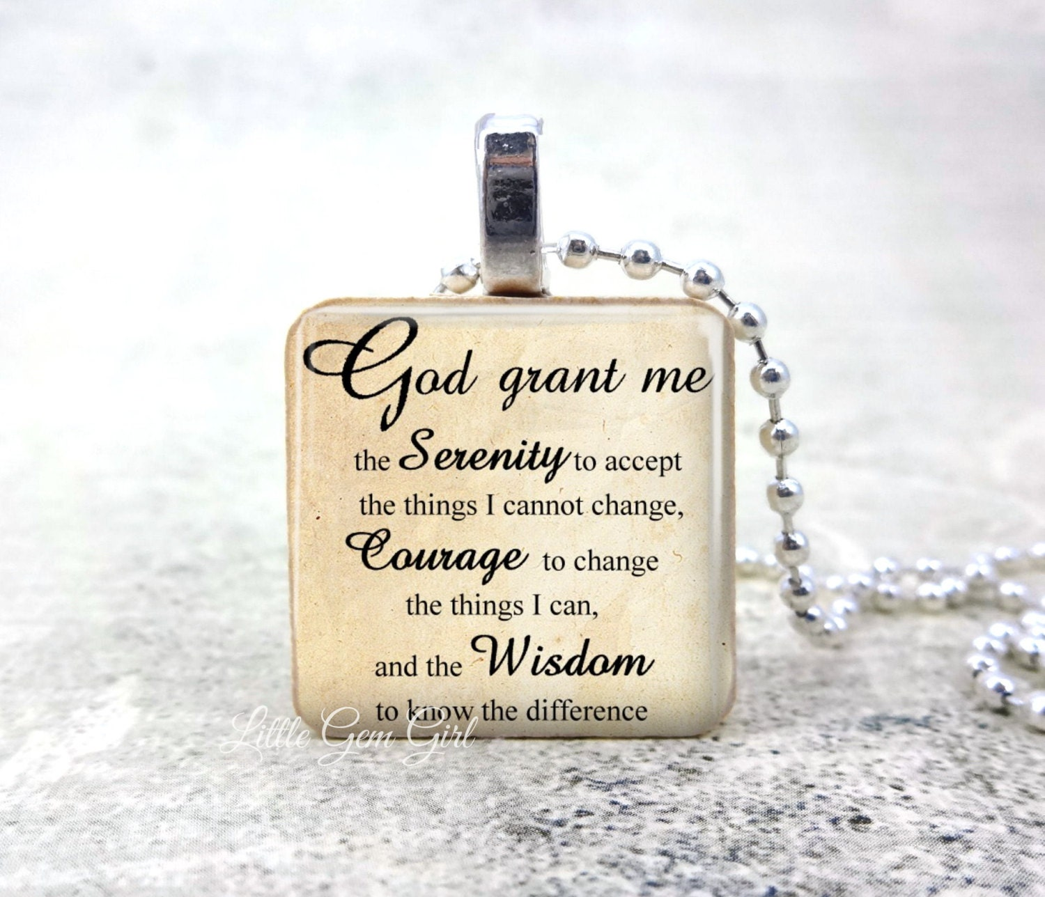 steel necklace tone pin plated immersion tag s stainless prayer and serenity gold dog men kohl