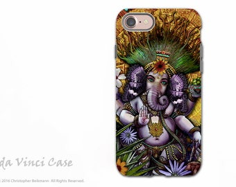 Ganesha Maya - iPhone 7 / 8 Tough Case - Dual Layer Protection - Hindu Mayan Ganesh artwork