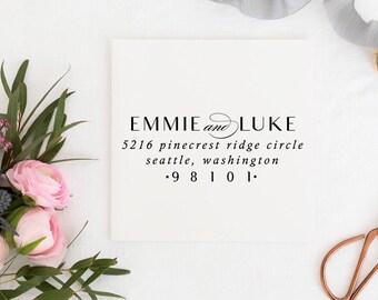 Custom Address Stamp - Return Address Stamp - Wedding Address Stamp - Minimal Address Stamp - Personalized Address Stamp  No.130