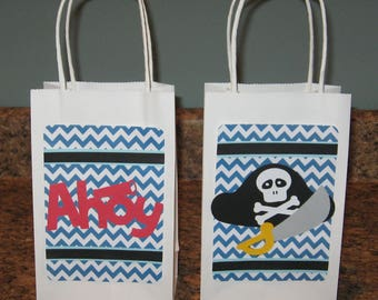 Pirate Party Gift Bags - Set of 12