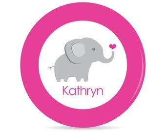 Elephant Personalized Plate - Melamine