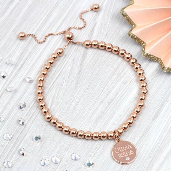 2bcbab5860768d Personalised Rose Gold Friendship Bracelet By Hurleyburley ...