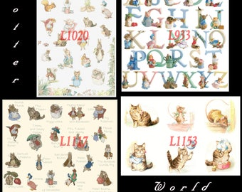 beatrix potter Cross Stitch special offer 4 patterns L933, L1117, L1020, L1153 beatrix potter Pattern pdf files - L1380