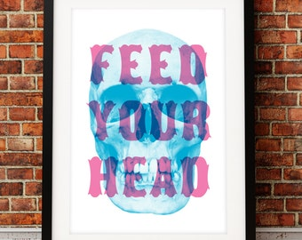 Jefferson Airplane art print, song lyric art, music inspired print, typographic print, Feed Your Head, song lyric print