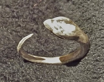 Sterling silver ouroboros ring, Silver snake ring, Esoteric ring, Sterling silver ring