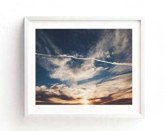 cloud print, cloud photograph, sunset photo, sky photography, nursery art, spiritual art, nature print, heaven, earth, baby room digital art
