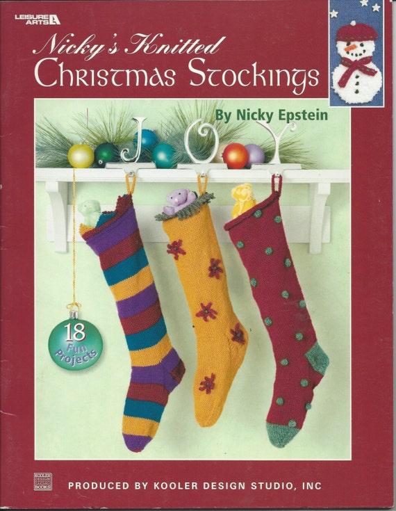 PATRONES de medias Navidad - 18 diseños de punto, de Nicky Epstein ...