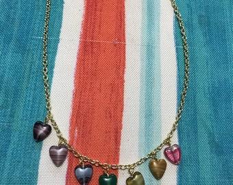 Gold Chakra Heart Necklace